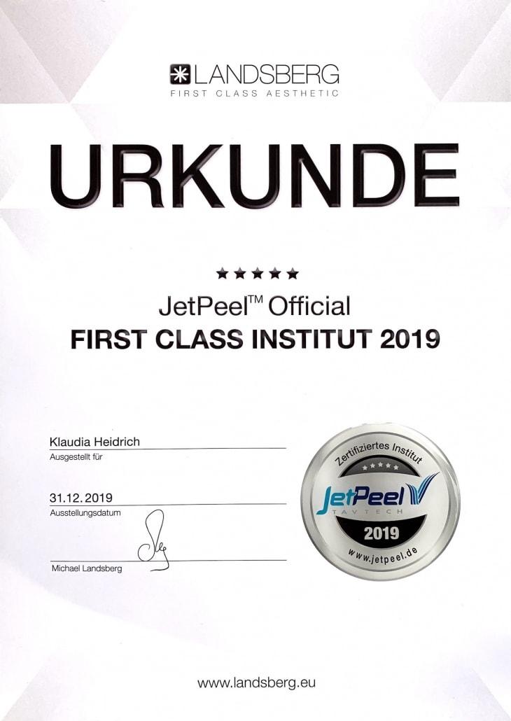 Klaudia Heidrich - JetPeel Official Institut 2019